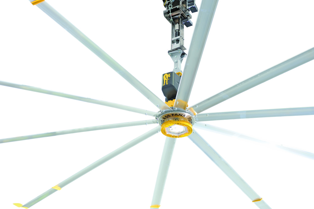 Big Ass Fans Designs First Industrial Ceiling Fan with Integrated ...:Powerfoil X LED,Lighting